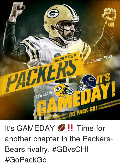 the latest 5d41d 4a705 K SOLDIER FIELD PACKERS at Chicago Bears TS #GBvsCHI 4Tご Y1 ...