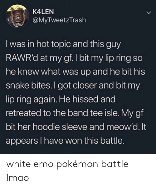70f5ea36 Blackpeopletwitter, Emo, and Funny: K4LEN @MyTweetzTrash I was in hot topic  and
