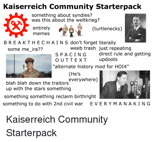 Kaiserreich Community Starterpack Something About Syndies