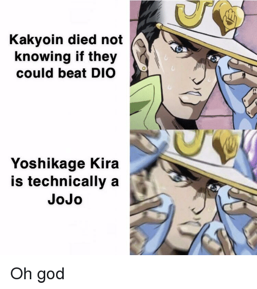 Kakyoin Died Not Knowing if They Could Beat DIO Yoshikage