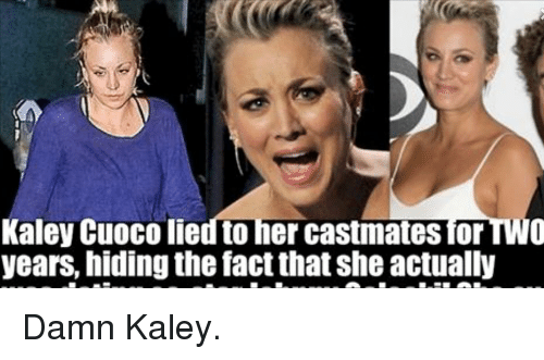kaley cuoco fapping