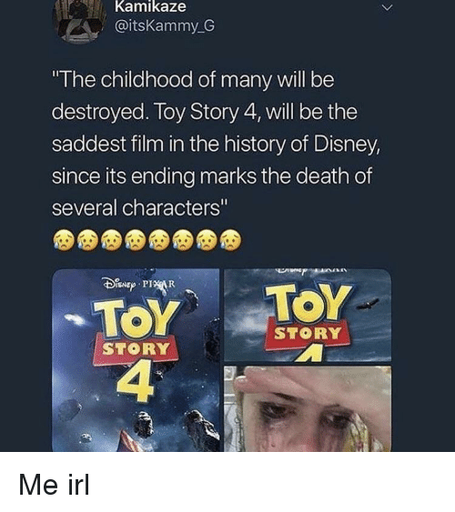 Kamikaze the Childhood of Many Will Be Destroyed Loy Story 4