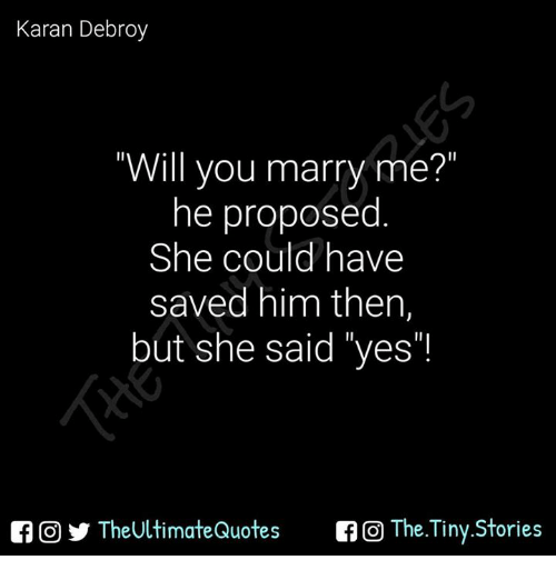 Will you marry me for him