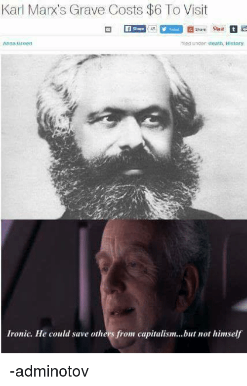Ironic, Capitalism, and Death: Karl Marx's Grave Costs $6 To Visit  Out it  le under death, History  Ironic. He could save others from capitalism...but not himself -adminotov