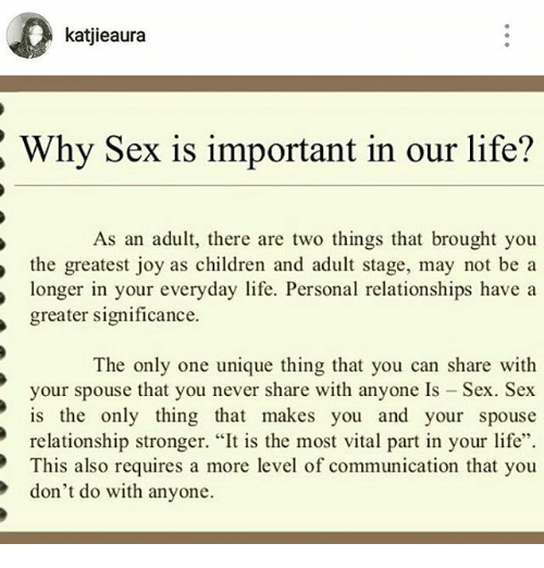 is sex necessary for life