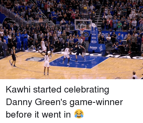 Game, Danny, and Went: Kawhi started celebrating Danny Green's game-winner before it went in 😂