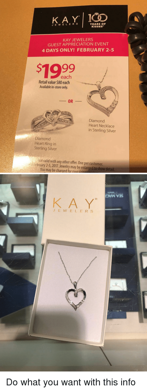 KAY J E W E L E R YEARS OF KISSES KAY JEWELERS GUEST APPRECIATION ...