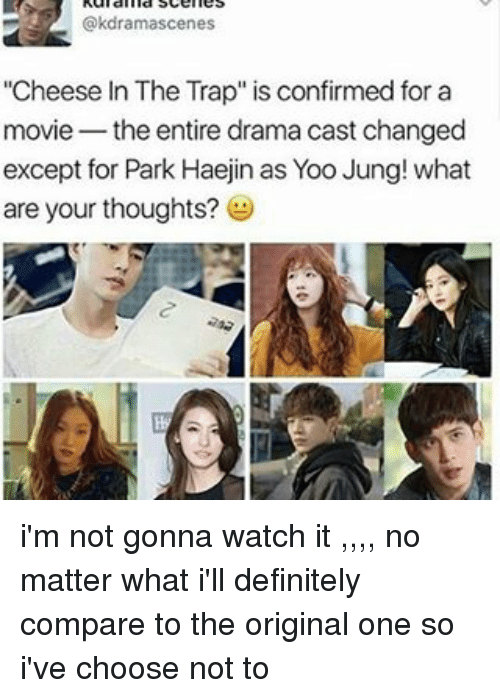 Nes Cheese in the Trap Is Confirmed for a Movie the Entire Drama