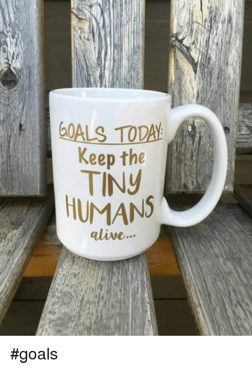 Alive, Memes, and 🤖: Keep the  TINy  HUMANS  alive #goals
