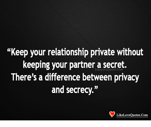 privacy and secrecy