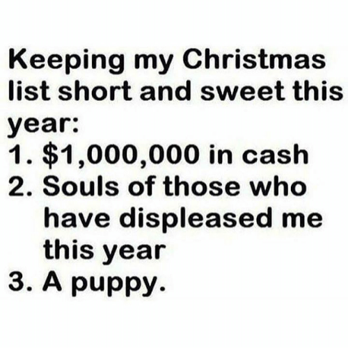 christmas puppy and who keeping my christmas list short and sweet this year - My Christmas List