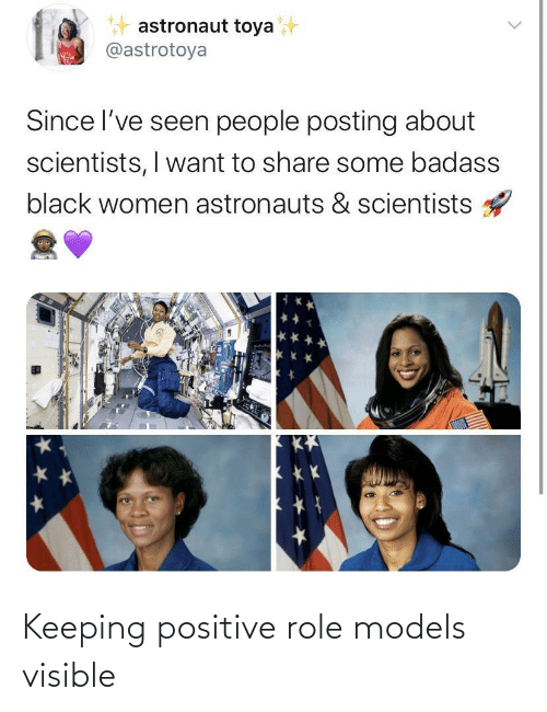 Models, Role Models, and  Positive: Keeping positive role models visible