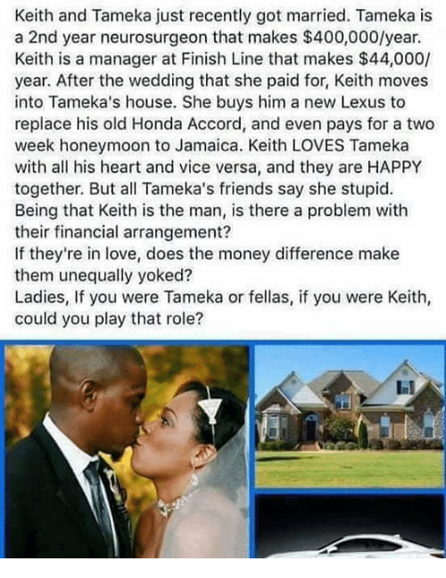Keith and Tameka Just Recently Got Married Tameka Is a 2nd Year