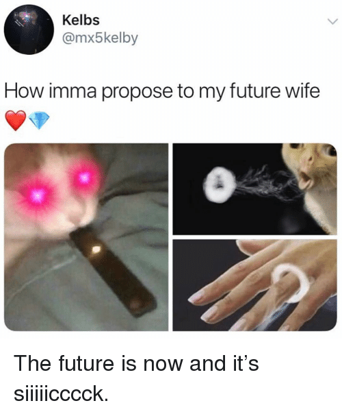 Future, Memes, and Wife: Kelbs  @mx5kelby  How imma propose to my future wife The future is now and it's siiiiicccck.