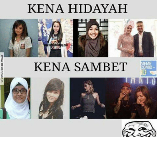 Indonesian (Language) and Www: KENA HIDAYAH  KENA SAMBET  D  E  WWW.MEMECOMSCJD