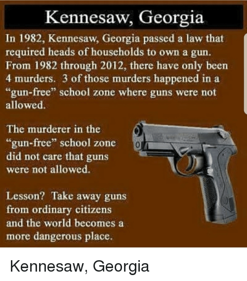 Image result for kennesaw georgia gun law