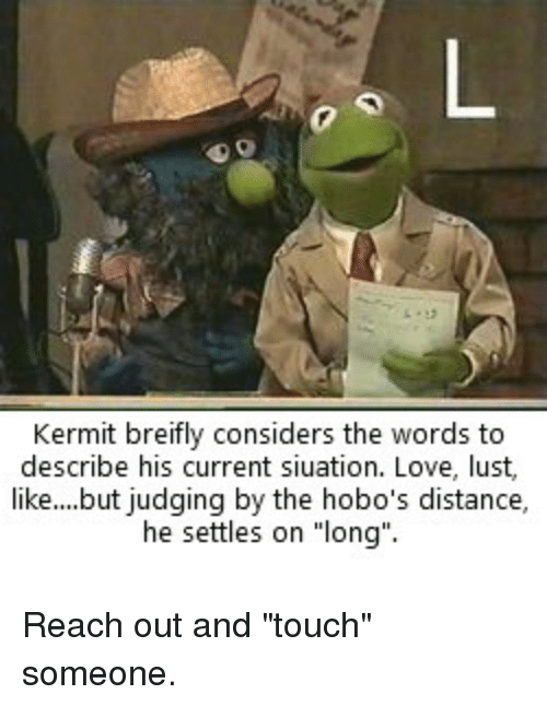 Kermit Breifly Considers the Words to Describe His Current
