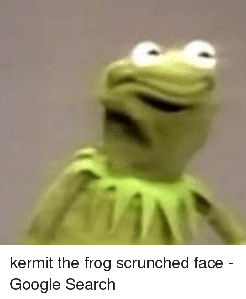 Kermit the Frog Scrunched Face - Google Search | Google Meme on ME ME