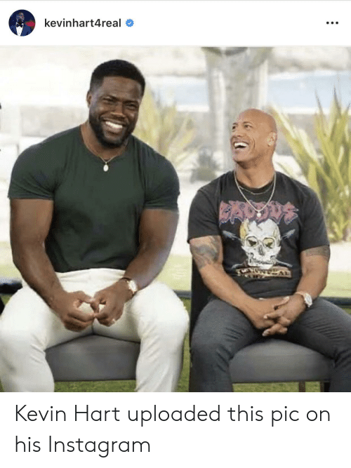 Instagram, Kevin Hart, and Hart: kevinhart4real Kevin Hart uploaded this pic on his Instagram