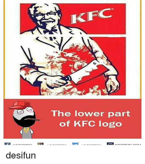Memes, 🤖, and Logo: KFC  ihe lower part  of KFC logo desifun