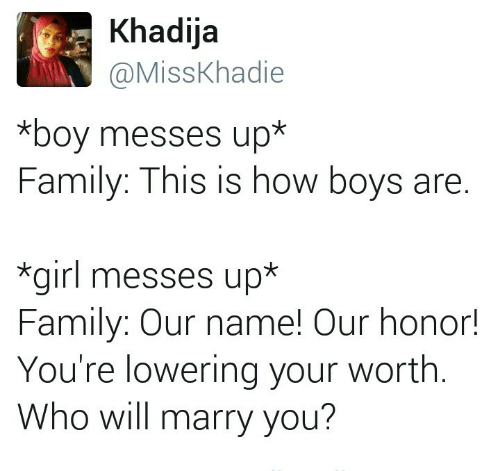 Khadija *Boy Messes Up* Family This Is How Boys Are *Girl Messes Up