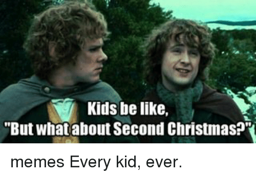 Christmas Memes For Kids.Kids Be Like But What About Second Christmas Memes Every