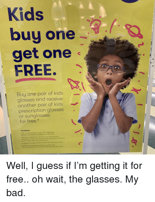 Kids Buy One Get One FREE Buy One Pair of Kids Glasses and