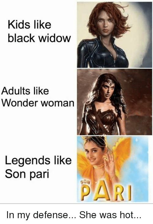 Memes Black Widow And Kids Like Adults Wonder Woman
