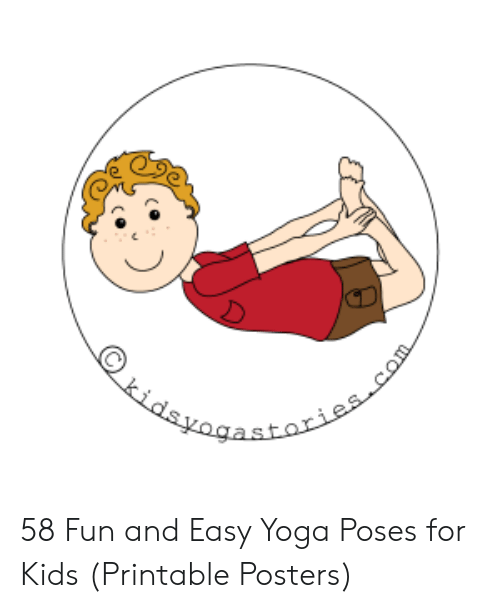 photo about Yoga Poses for Kids Printable named Kidsvogastoriescom 58 Enjoyment and Simple Yoga Poses for Children