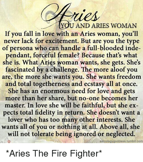 Aries woman you when an is done with 10 Things