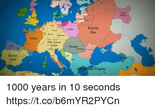 Kievan Rus France Hungary Duslim B Spain Une Empire 1000 Years in 10 on holy roman empire world map, islam world map, abbasid caliphate world map, medieval world map, mecca world map, sassanid empire world map, mongols world map, byzantine empire world map, timbuktu world map, charlemagne world map, umayyad caliphate world map, magna carta world map,