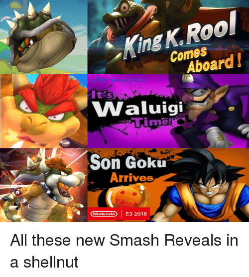 King KRool Comes Aboard! It's Waluigi Time! Son Goku Arrives