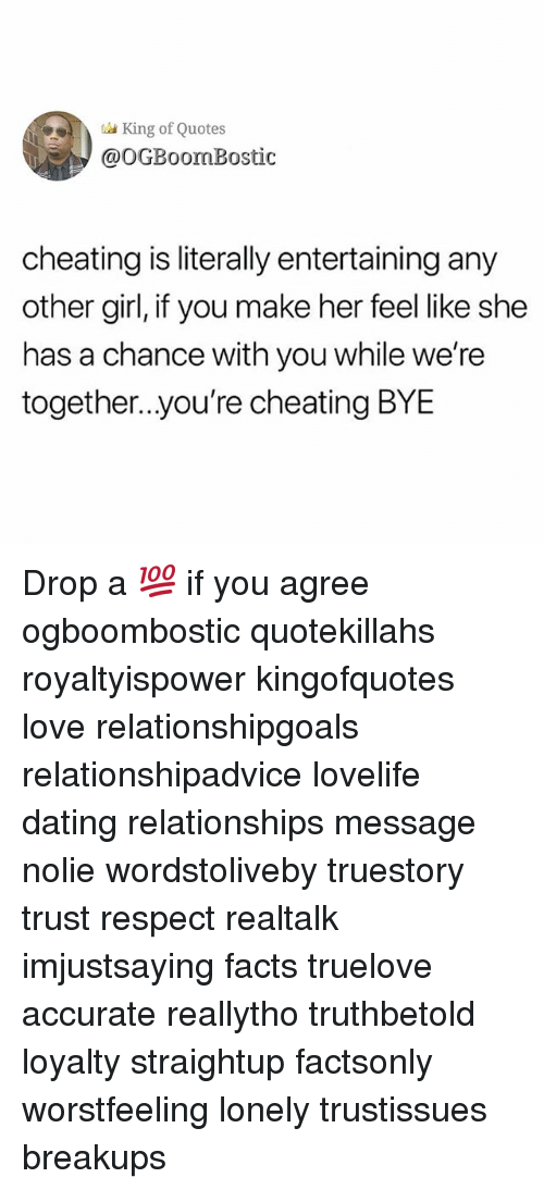 King Of Quotes Cheating Is Literally Entertaining Any Other Girl If