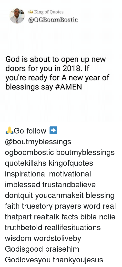 King of Quotes God Is About to Open Up New Doors for You in 2018 if ...