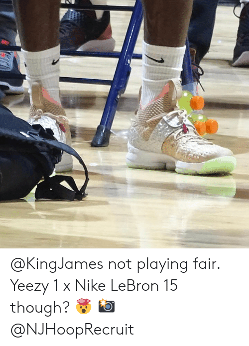 63ccaa22d1 Not Playing Fair Yeezy 1 X Nike LeBron 15 Though? 🤯 📸 | Nike Meme ...