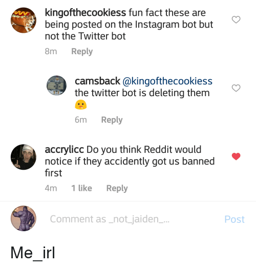 Kingofthecookiess fun fact these are being posted on the instagram instagram reddit and twitter kingofthecookiess fun fact these are being posted on the ccuart Images