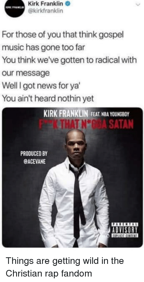 Kirk Franklin, Music, and Nba: Kirk Franklin @kirkfranklin For those of you