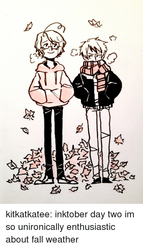 Fall, Target, and Tumblr: kitkatkatee:  inktober day two im so unironically enthusiastic about fall weather