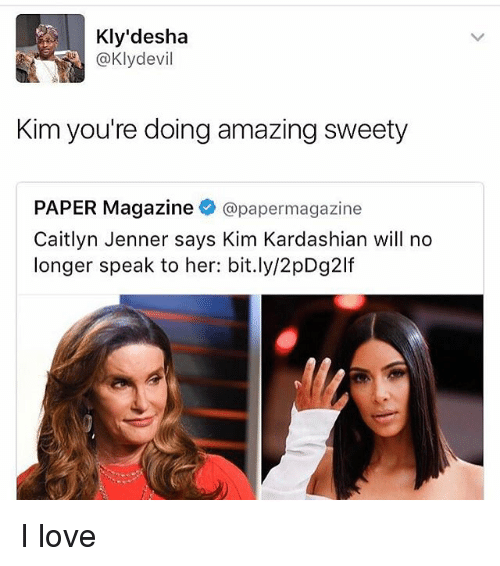 You Re Doing Amazing: Kly'desha Devil Kim You're Doing Amazing Sweety PAPER