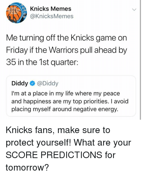 Knicks Memes Me Turning Off the Knicks Game on Friday if the