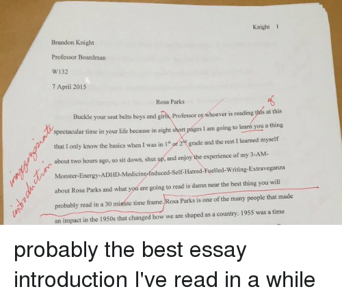Best essay introduction