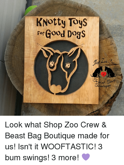 Knotty Toys Forgood Dogs Look What Shop Zoo Crew Beast Bag