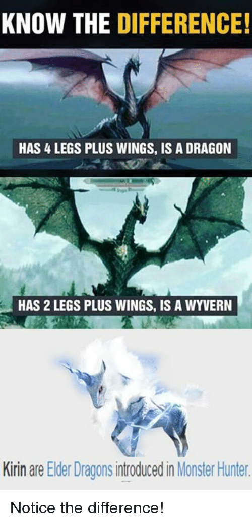 Know The Difference Has Legs Plus Wings Is A Dragon Has 2 Legs