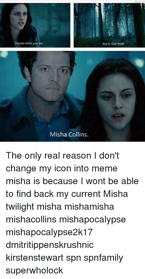 Know What You Are Misha Collins Say It Out Loud The Only Real Reason