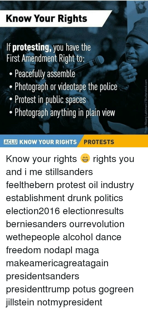 Know Your Rights if Protesting You Have the First Amendment Right to
