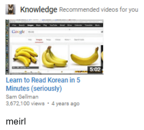 knowledge recommended videos for you google 502 learn to read korean