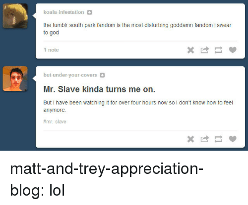 Koala Infestation The Tumblr South Park Fandom Is The Most