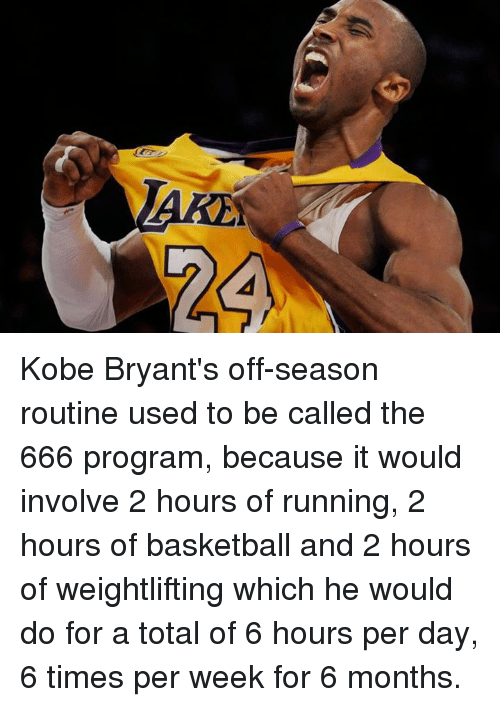 Kobe Bryant's Off-Season Routine Used to Be Called the 666