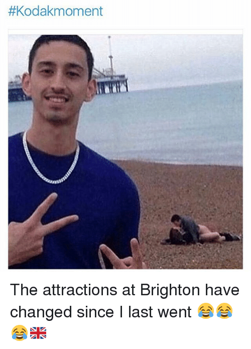 Memes, 🤖, and Went: The attractions at Brighton have changed since I last went 😂😂😂🇬🇧