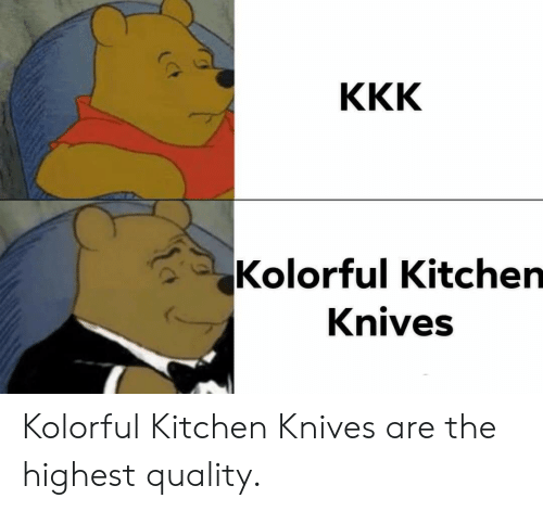 Kitchen Quality And The Kolorful Knives Are Highest